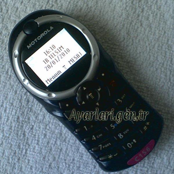 Motorola C156 Vodafone İnternet Ayarları (1)