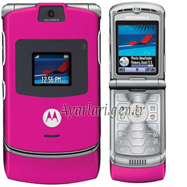 Motorola razr v3 Vodafone İnternet Ayarları (2)