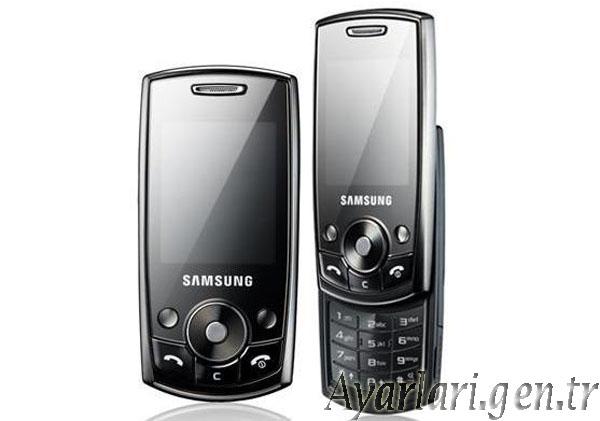 Samsung J700i Vodafone İnternet Ayarları