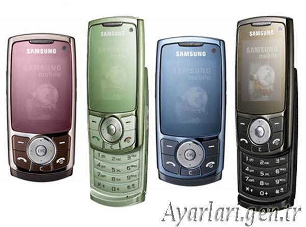 Samsung L760 Vodafone İnternet Ayarları