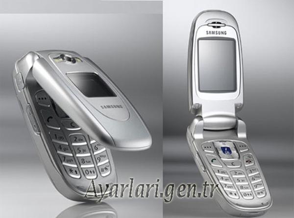 Samsung SGH-E620 Vodafone Wap-Gprs-İnternet Ayarları