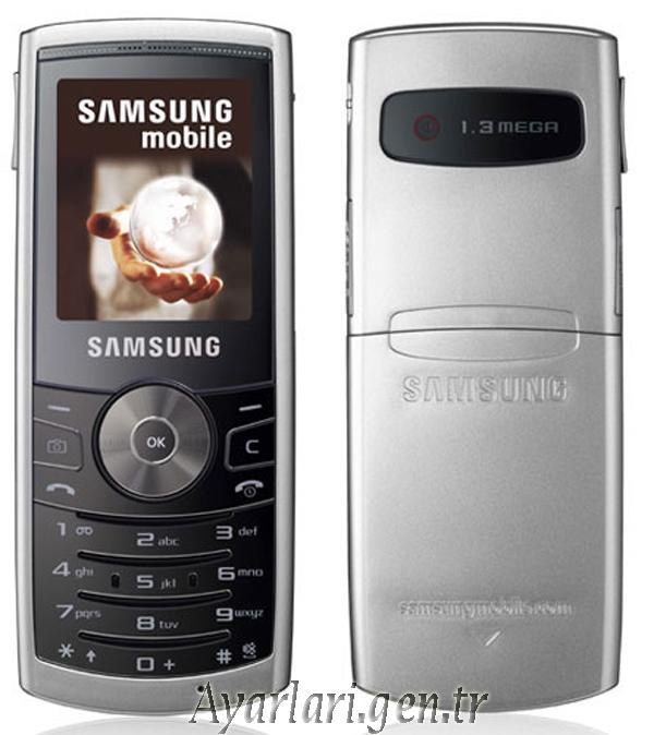 Samsung SGH-J150 Vodafone İnternet Ayarları