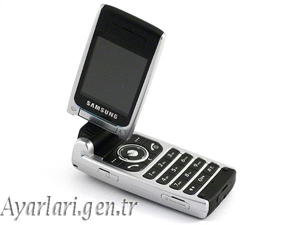 Samsung SGH-P850 Vodafone İnternet – Wap – Gprs Ayarları