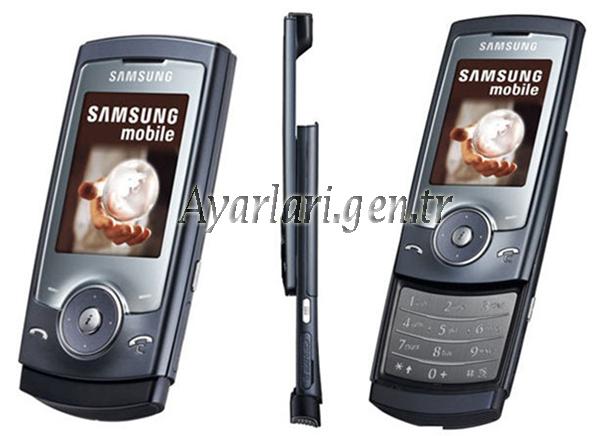 Samsung SGH-U600 Vodafone İnternet – Wap – Gprs Ayarları