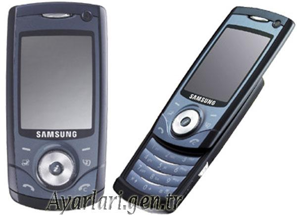Samsung SGH-U700 Vodafone İnternet – Wap – Gprs Ayarları