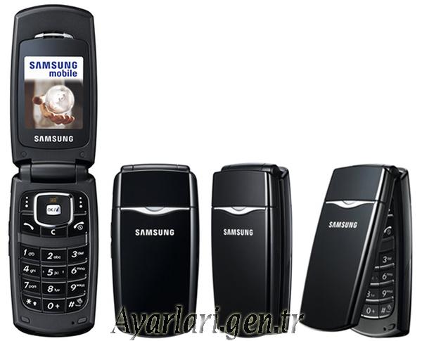 Samsung SGH-X210 Vodafone İnternet – Wap – Gprs Ayarları