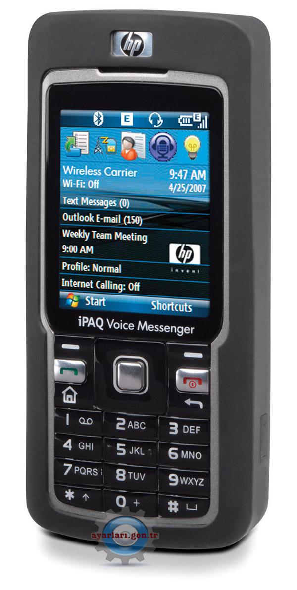 HP IPAQ 500 Vodafone İnternet Wap Gprs MMS Ayarları