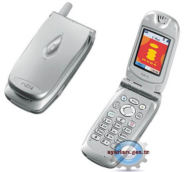 NEC 21i  Vodafone İnternet Wap Gprs MMS Ayarları