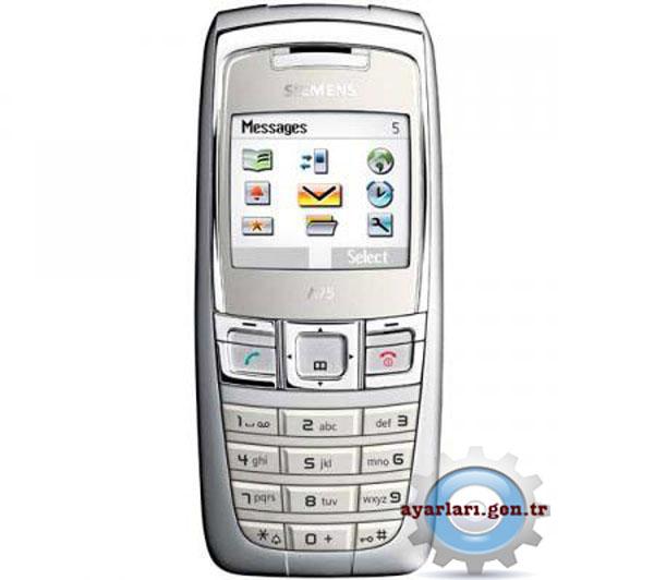 Siemens A75 Vodafone İnternet Wap Gprs MMS Ayarları